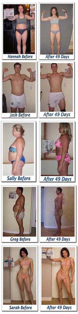 49 day burn the fat body transformations