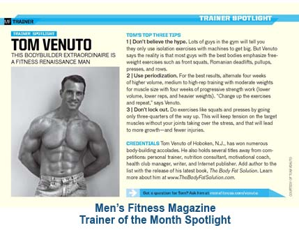 tom venuto as seen in Men's Fitness